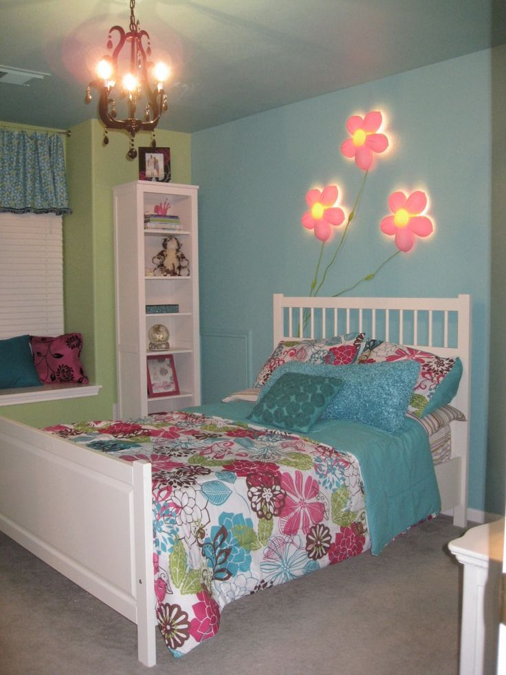 Cute Little Girl Bedroom Ideas : Beautiful Design Ideas : Exciting Little Girls Bedroom Ideas With Flowers Bedding Bed Cover