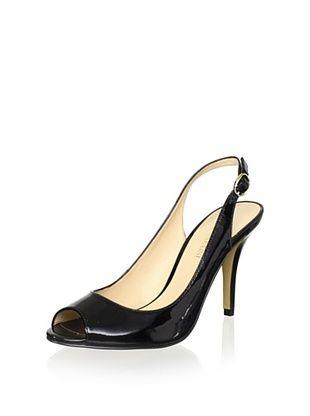 56% OFF Enzo Angiolini Women's Mykell Open-Toe Slingback (Black Patent)
