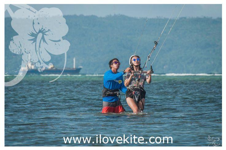 First hour kite training!