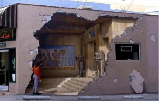 it's actually graffiti