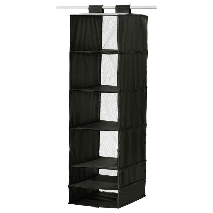 SKUBB Aufbewahrung mit 6 Fächern - schwarz - IKEA; 35x45x125; 8,99 eur; artnum: 802.458.76