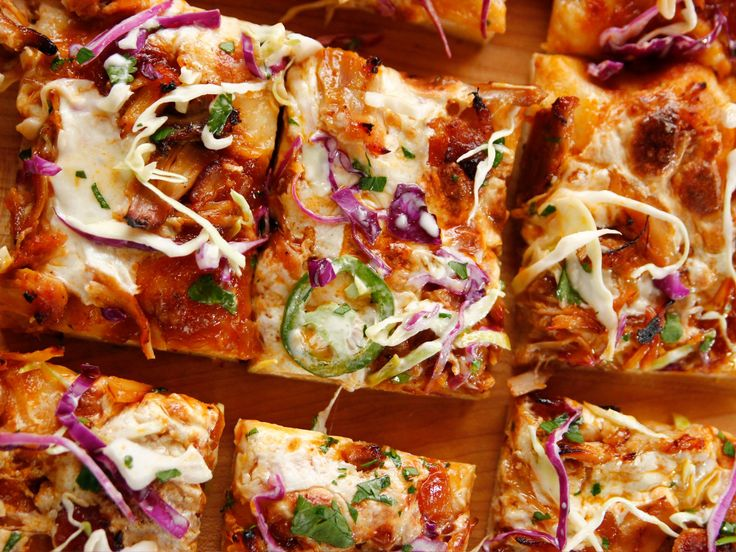 BBQ Chicken Pizza with Spicy Slaw recipe from Ree Drummond via Food Network
