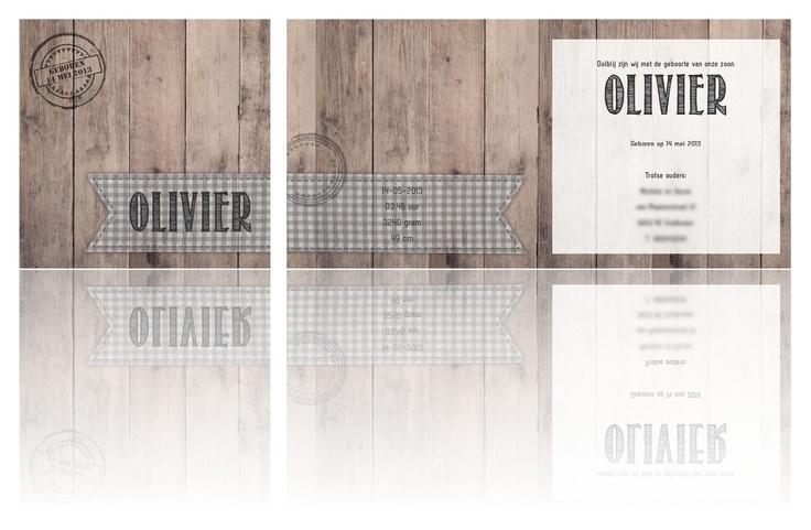 #geboortekaartje Olivier