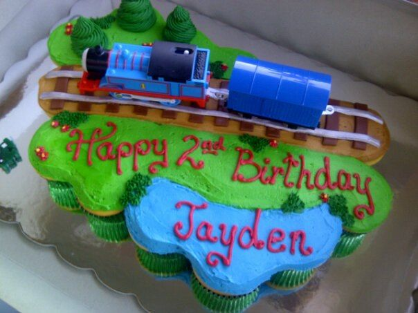 Thomas The Train Cupcake Cake Little Boy Train Party