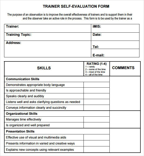 Course Evaluation Template Word Fresh Training Evaluation Form 17