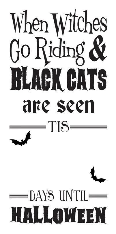 PLANTILLA de Halloween primitivo  Brujas cuando por OaklandStencil