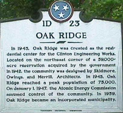 "Oak Ridge | ""The Secret City"" It was a city where scientists built nuclear weapons and lived, residents were not allowed to talk about the city and outsiders were not allowed in."