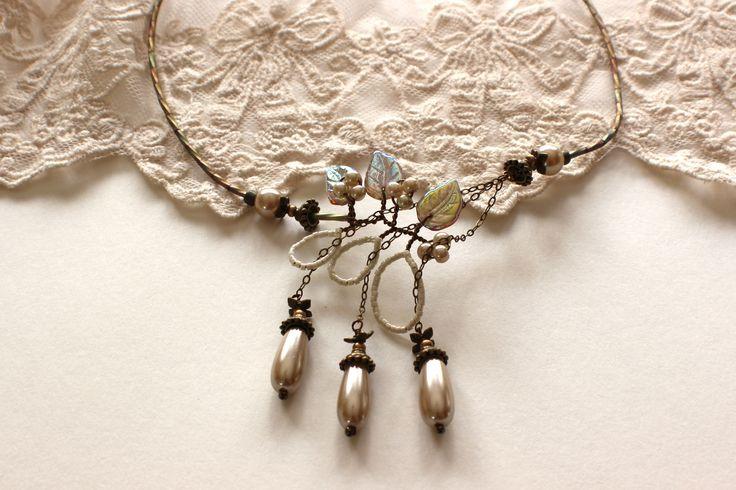 Pearl Waterfall Necklace - Wedding Jewelry, Bridal Jewelry, Bridesmaid Jewelry, Mother of the Bride http://www.robingoodfellowdesigns.com/new-designs-2014/pearl-tiers-waterfall-necklace