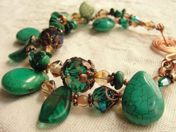 Turquoise Beaded Bracelet  Turquoise Howlite and by KartisimDesign, $45.00