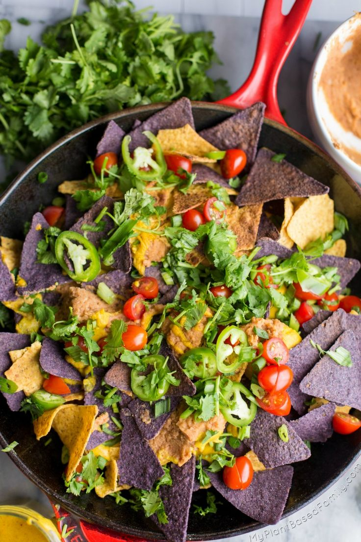 You must try these Plant-Based Nachos! Your whole family will fall in love with this easy vegan recipe!