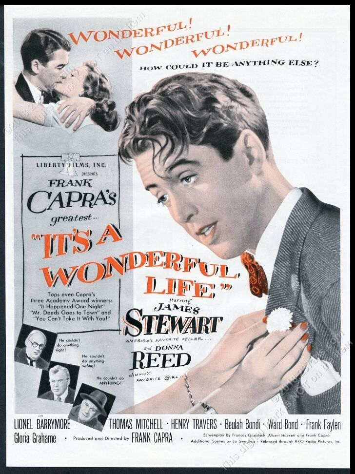 It/'s a wonderful life James stewart movie poster print #2