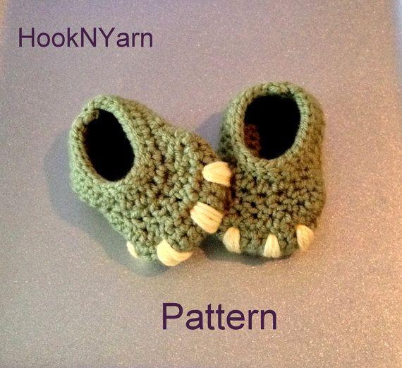 Hey, j'ai trouvé ce super article sur Etsy, chez https://www.etsy.com/fr/listing/179416120/baby-monster-dinosaur-booties-crochet