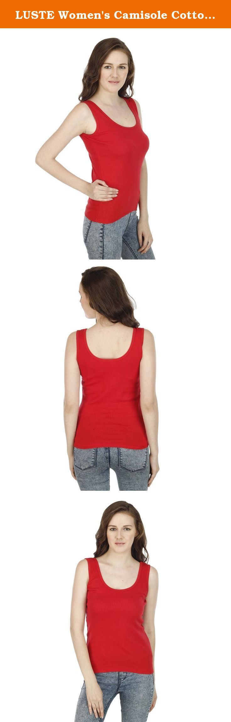 LUSTE Women's Camisole Cotton Free Size Red. Fine cotton Camisoles from our collection, designed to give you breathable and comfortable body fit. Have fun!.