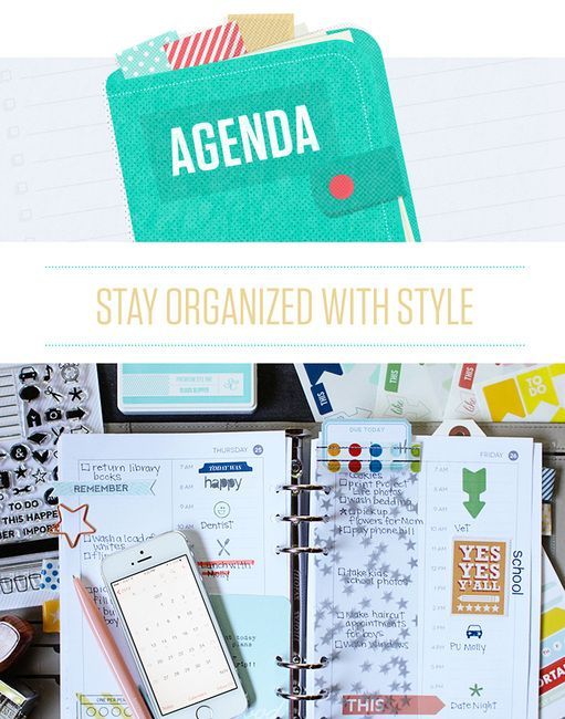 Agenda at @studio_calico - get organized with this new planner based class from @marcypenner