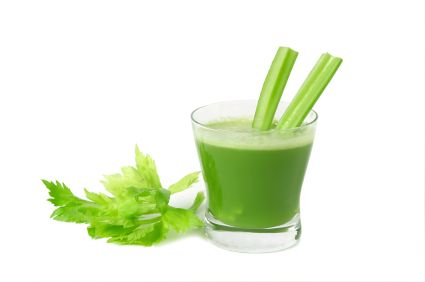 """Make the breakfast drink that Dr. Oz swears by! This """"green drink"""" is high in fiber, low-calorie and rich in vitamins.    2 apples, cored.  2 big handfuls of spinach.  1/2 cup of chopped parsley.  1 celery stick, chopped.  1 thumbnail length of ginger root, peeled.  1 lemon - juice only (use peel slice for zest).  1 medium cucumber.  Place in blender, add 4 oz. spring water or handful of ice cubes, puree quickly for 1 minute. Makes two glasses. Has a strong taste."""