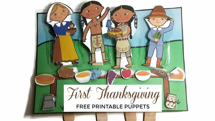 Learn about the first Thanksgiving story by reading a Thanksgiving story preschool picture book and retelling the story with Pilgrim and Wampanoag puppets.