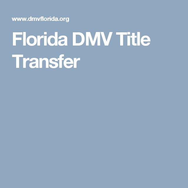 Florida DMV Title Transfer