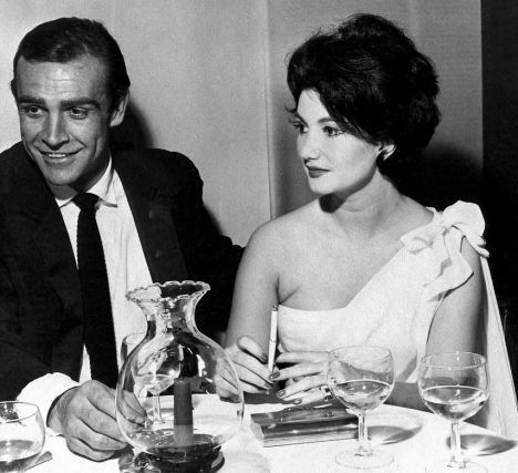 Bond Girl, Zena Marshall, Original James Bond Villainess, on the Set of the Film, Dr. No, in 1962