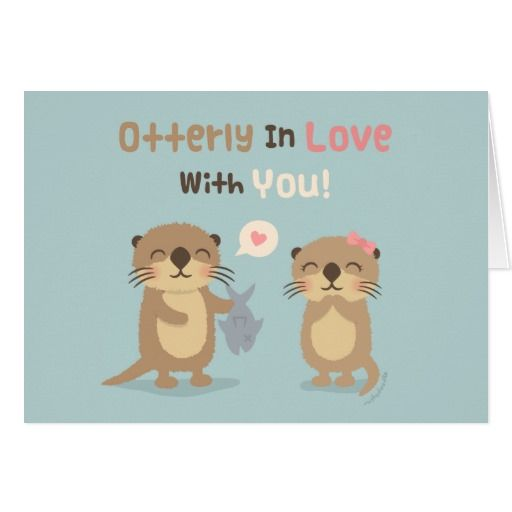 Cute Funny Otterly in Love With You Otter Pun