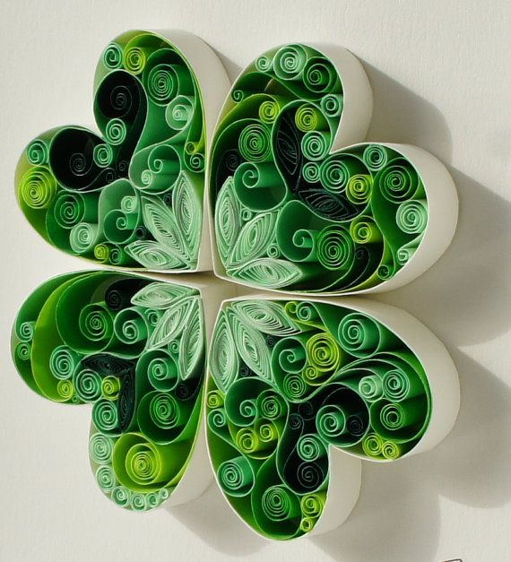 Quilled Paper Art May Good Luck Be With You by SenaRuna on Etsy, $50.00