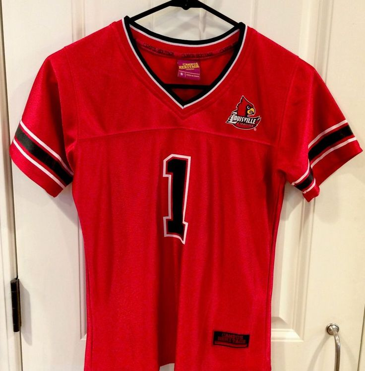 U Of L Louisville Cardinals Boys Football Jersey Size Small Campus Heritage #CampusHeritage #LouisvilleCardinals