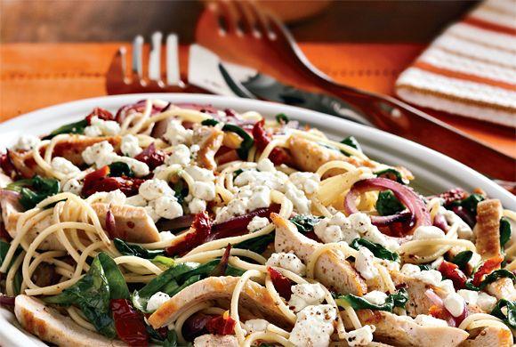 Chicken and Sun-Dried Tomato Spaghettini