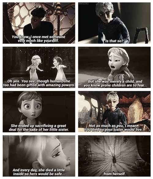 Theres even a fake plot connecting their storylines. | Why Jack Frost And Elsa Would Make The Cutest Couple