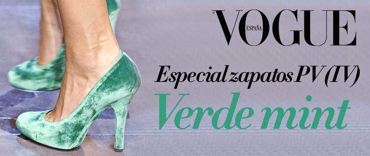 Nuestra cuarta y última entrega de los zapatos de esta temporada: los de color verde.