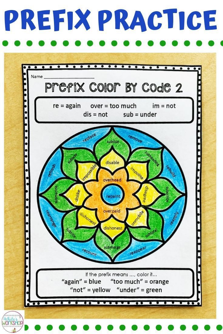 small resolution of Prefix worksheets for students in 3rd