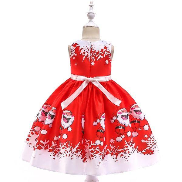 Princess Christmas Holiday Red Satin Tulle Snowflake Nightgown