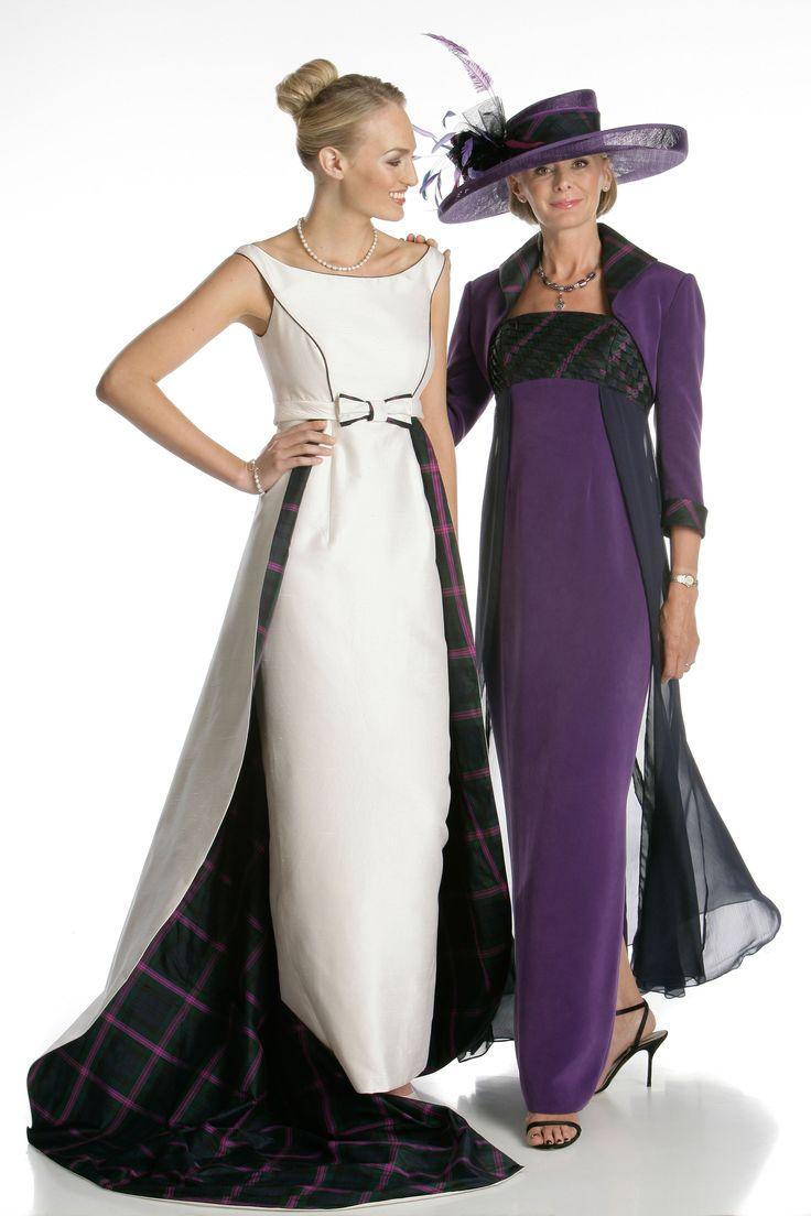 32 best images about tartan wedding dresses on pinterest for Scottish wedding dresses with tartan