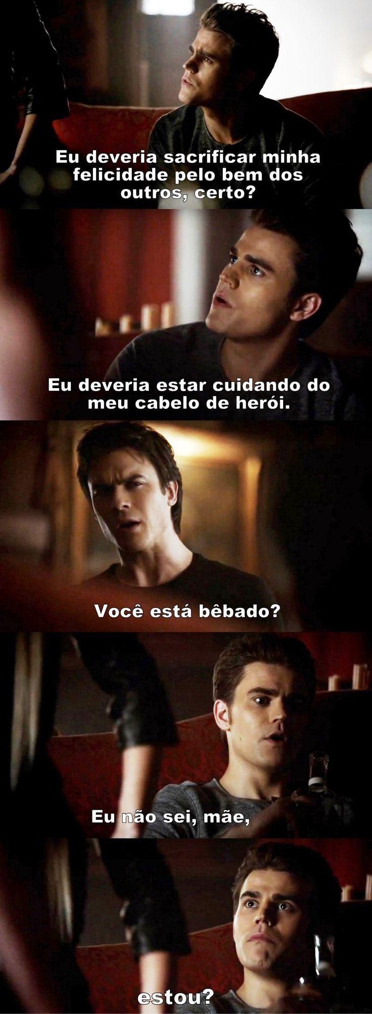 Diários de um vampiro 4x23 - Damon e Stefan