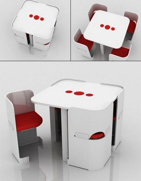 Reminds me of the fifth element or something. Modern furniture