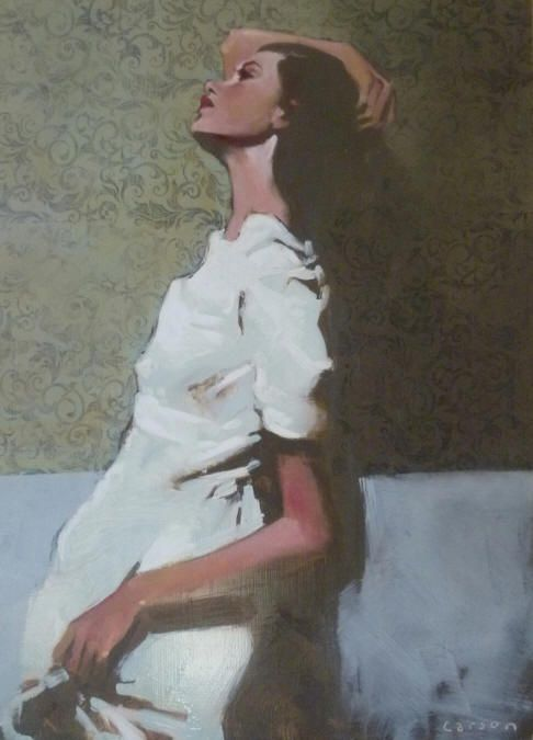 Michael Carson, Lean, Oil on Canvas