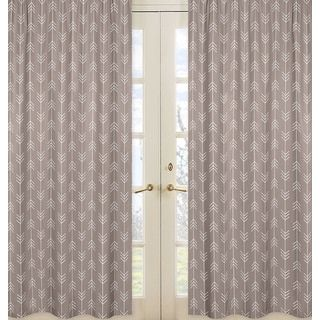 Shop for Sweet Jojo Designs Outdoor Adventure Collection Stone Grey and White Arrow Print Cotton 84-inch Long Curtain Panel Pair. Get free delivery at Overstock.com - Your Online Home Decor Outlet Store! Get 5% in rewards with Club O!