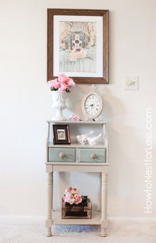 Painted Telephone Table, via @How to Nest for Less