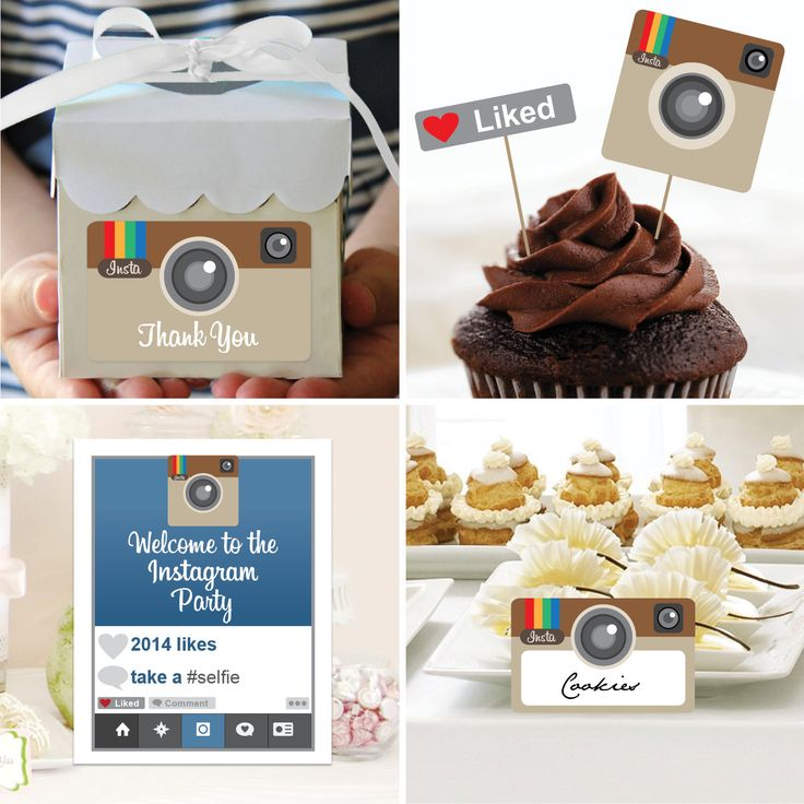 Instant Download - Instagram Theme Birthday Package - DIY Birthday Package - Instagram Birthday Package by CreativeUnionDesign on Etsy https://www.etsy.com/listing/182227454/instant-download-instagram-theme