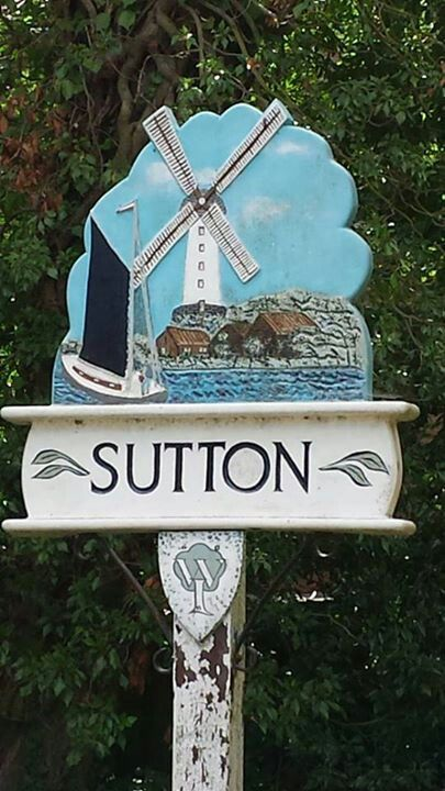 Sutton village sign, Norfolk