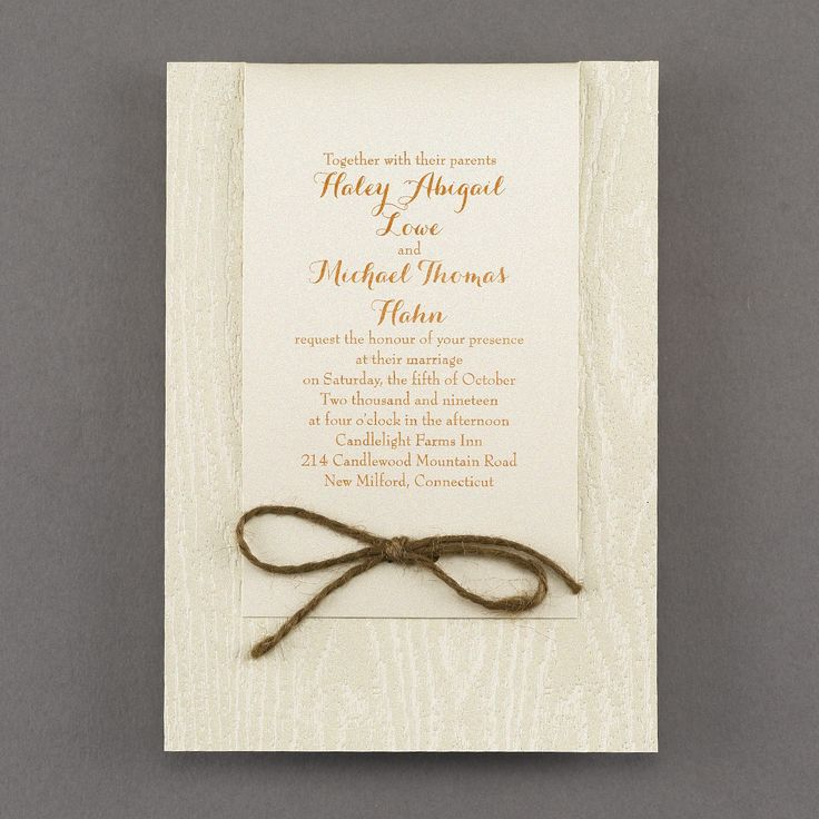 deer hunter wedding invitations%0A Woodsy Look  Invitation  u   e Wedding Invitations   Carlson Craft Wedding  u      Stationery Products   NORTH