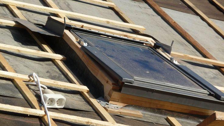 Pose fenetre de toit type Velux - agrafage sous toiture
