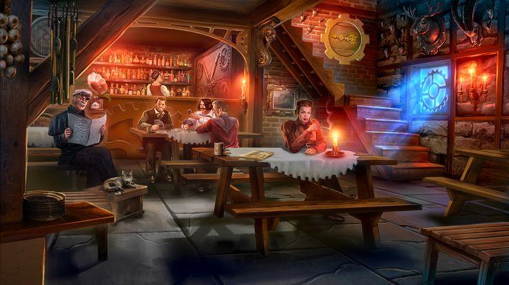 Clockwork Tales: Of Glass and Ink #steampunk #adventure #game #inn www.artifexmundi.com/page/clockwork/ www.facebook.com/ArtifexMundi.ClockworkTales