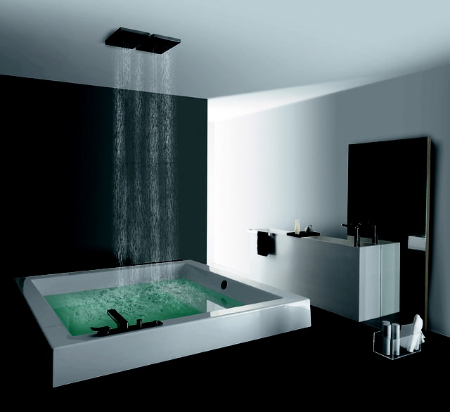 I Think A Bathtub With A Shower Thing Like This Would Be Pretty Amazing.  And If We Could Situate It Against A Wall, So You Can Do Your Thing. Oh Yes.