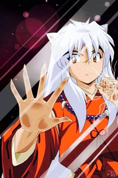 Inuyasha behind the screen.  I've been waiting for this!