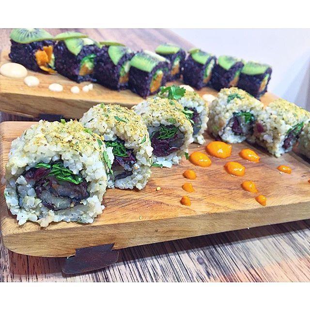 sushi,yummy,foodporn,food,vegetarian,vegansofig,vegan,healthy,sushiroll,veganfoodshare,veganfood,vegansushi,picoftheday