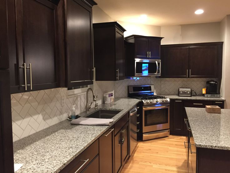 Caledonia Granite Backsplash