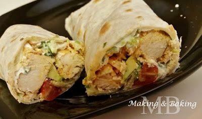 Buffalo Chicken Wrap. Healthy and delicious!