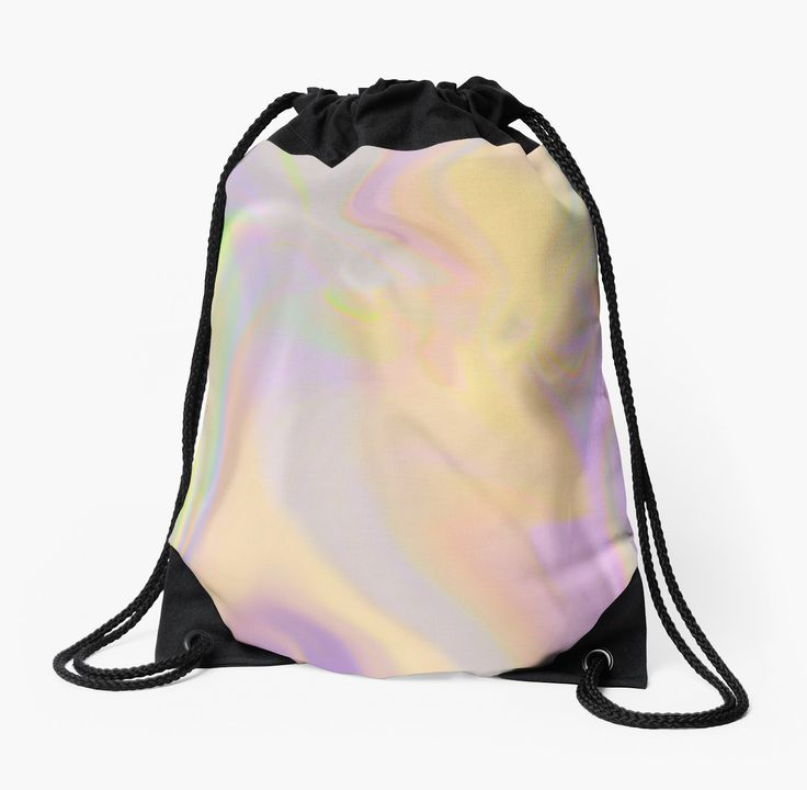 Mixed Rainbow Drawstring Bag by Terrella.  A fuzzy mixed up rainbow. • Also buy this artwork on bags, apparel, phone cases, and more.