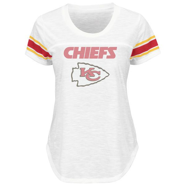 Kansas City Chiefs Majestic Women's Tailgate T-Shirt - White - $23.99