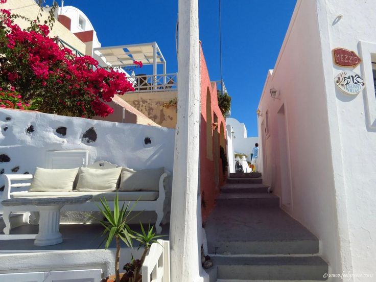 A street in Imerovigli - the balcony of the Aegean, Santorini