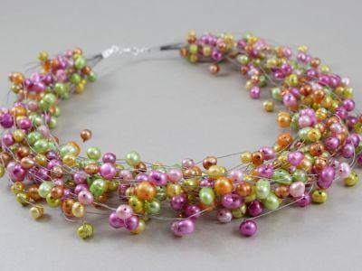 CHILEART __ perły multikolor i srebro WYPRZEDAŻ - ChileArt - Sklep internetowy z biżuterią artystyczną